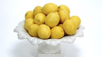 Citric acid in lemons helps break down calcium stains.