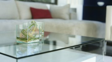 Glass surfaces reflect light and create a feeling of space.