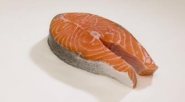Farm raised salmon has added colouring to mimic the natural colour of wild salmon.