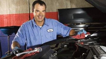 Mechanic holding socket wrench