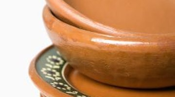 Terracotta earthenware is made from red clay.