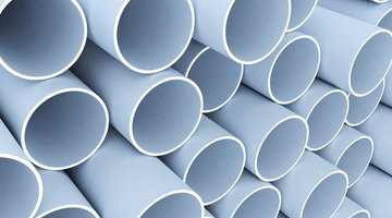 A stack of pvc pipes.