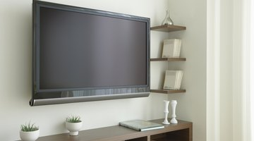 Hide the wires of your flat-screen by running them through the wall.