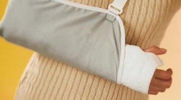 The gauze wraps around the wrist and thumb.
