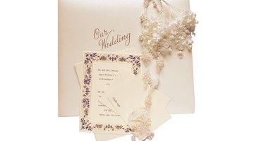 Seu convite caseiro pode ser simples ou extravagante