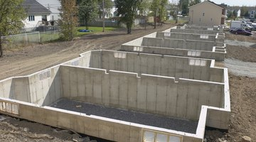 Slab basements require little preparation and are suited for warm, level sites.