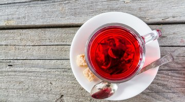 Cup of hot tea with hibiscus