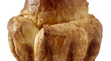 Classic brioche is baked in a fluted pan, and has a distinctive shape.