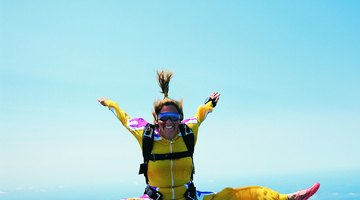 On top of the world: sky-diving