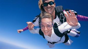 A tandem jump will require a little touch-up on hair, clothes and make-up but will be totally worth it.