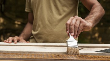 Plan the deck staining project when rain is not expected in the forecast.