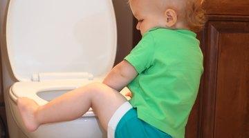 boy on potty