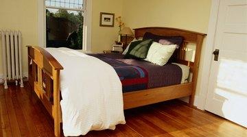 Bed in bedroom.
