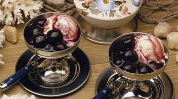 Cherries jubilee is often served with ice cream.