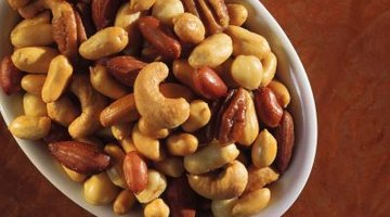 Pecans, cashews and peanuts enliven this nut mixture.
