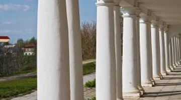 Columns are often tapered.