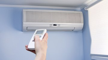 Air conditioner located inside an enclosed area