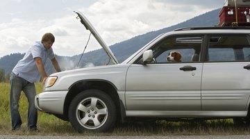 Auto mechanic posing next to car