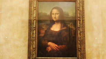 The Mona Lisa is most famous the central figure's smile