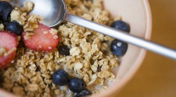 Granola doubles as a snack food and a breakfast cereal.