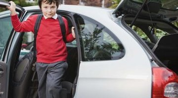 Driving your child to school can include some quality time in the morning.