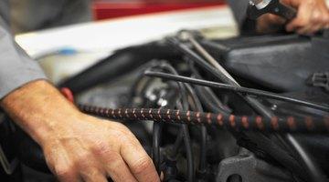 Close up of a car engine