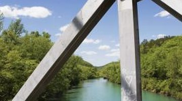 Truss bridges make use of triangles in their design to provide great, even strength.