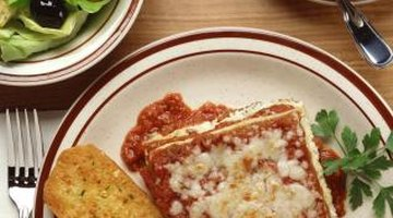 Serve a three-course lasagne dinner.