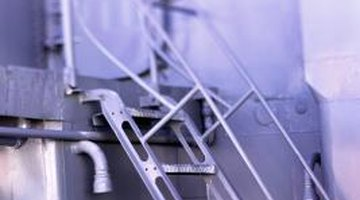 Many ship's ladders are now made of metal to ensure the ladder's stability.
