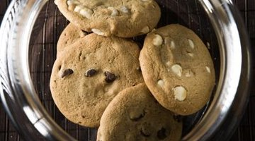 Macadamia nuts are used to enhance the taste and texture of baked cookies.