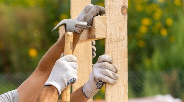 For simple jobs, construction workers will use hand tools such as a hammer, screw driver, pliers, electric drills and screw guns.