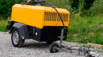 A two-stage air compressor is often used at job sites for pneumatic tools such as air-powered nail guns, sanders, staplers and spray guns.