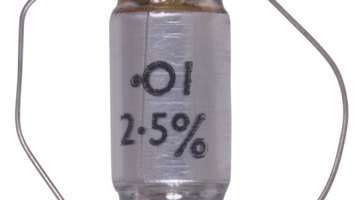 Close-up of capacitor