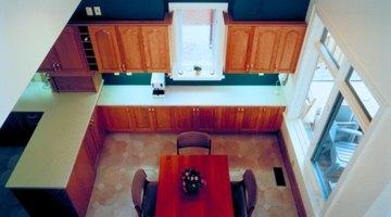 Cover an old linoleum floor with a new, updated linoleum floor.