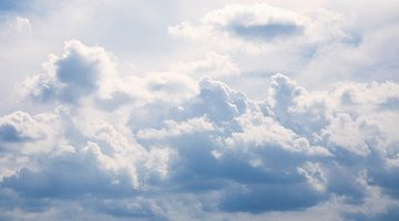 Puffy clouds that resemble candyfloss are easy to make with the paintbrush tool.