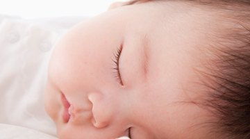 caucasian baby smiling