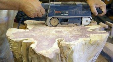 Belt sanding the flat surfaces.