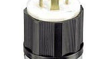 Male twist lock plug. Plug into generator.