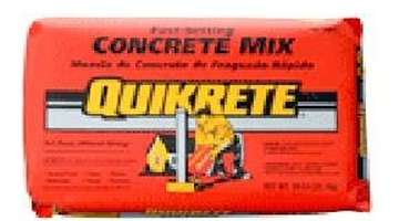 Fast-setting mix allows the concrete to cure quickly.
