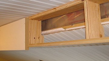 This faux beam is made of plywood but the framing concept is just the same