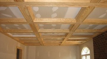 You can clad your faux beams with either stain grade or paint grade finish trim
