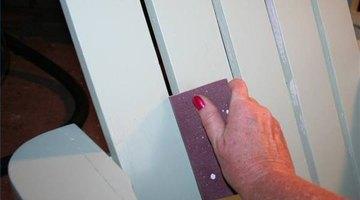 Use a sanding block between slats.