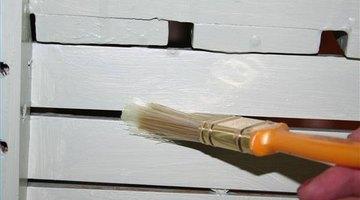 Use a small brush between slats.