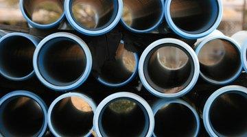 Mark the PVC pipe along the edge.