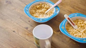 Cereal in kitchen
