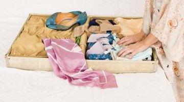 Woman storing clothing