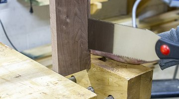 Finish the cut to accommodate the brace.