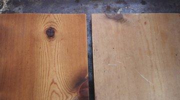 This before and after shows the difference between treated and non-treated wood.