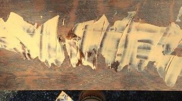 Wood filler generously applied