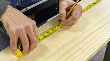 Measure your shelves and make pencil marks for the saw.